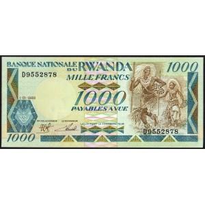 Руанда 1000 франков 1988 - UNC