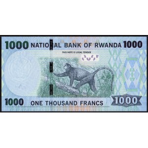 Руанда 1000 франков 2015 - UNC