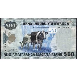 Руанда 500 франков 2013 - UNC