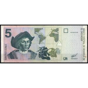 Сальвадор 5 колонов 1998 - XF+