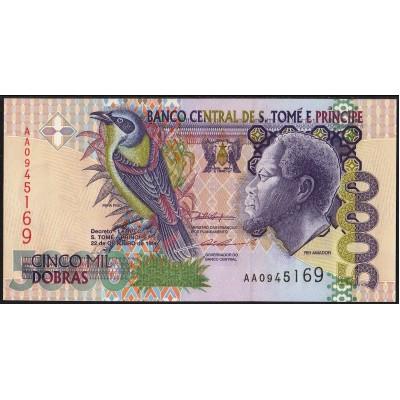 Сан-Томе и Принсипи 5000 добр 1996 - UNC