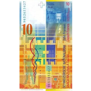Швейцария 10 франков 2000 - UNC