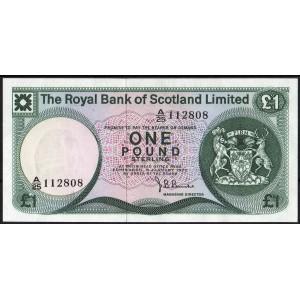 Шотландия 1 фунт 1972 - UNC