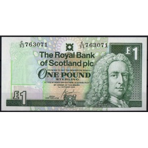 Шотландия 1 фунт 2001 - UNC