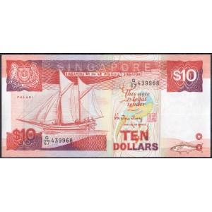 Сингапур 10 долларов 1988 - UNC