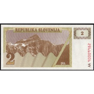 Словения 2 толара 1990 - UNC