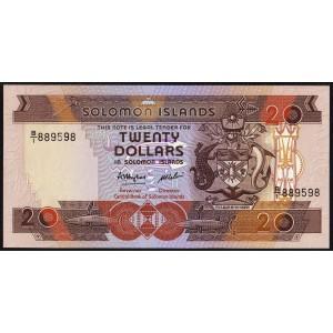 Соломоновы острова 20 долларов 1986 - UNC