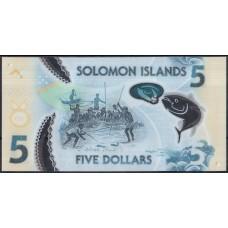 Соломоновы острова 5 долларов 2019 - UNC