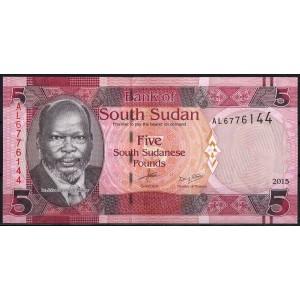 Судан (Южный) 5 фунтов 2015 - UNC