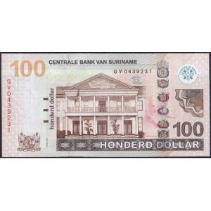 Суринам 100 долларов 2012 - UNC