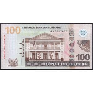 Суринам 100 долларов 2016 - UNC