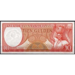 Суринам 10 гульденов 1963 - UNC