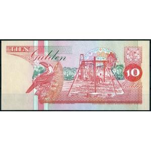 Суринам 10 гульденов 1996 - UNC