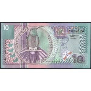 Суринам 10 гульденов 2000 - UNC