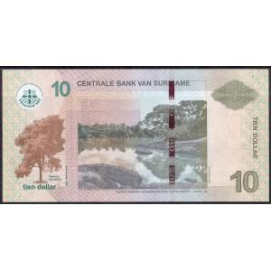 Суринам 10 долларов 2012 - UNC