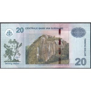 Суринам 20 долларов 2010 - UNC