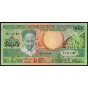 Суринам 25 гульденов 1988 - UNC