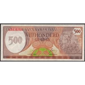 Суринам 500 гульденов 1982 - UNC