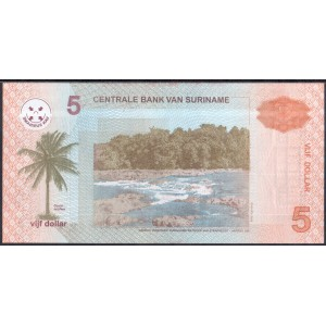 Суринам 5 долларов 2004 - UNC