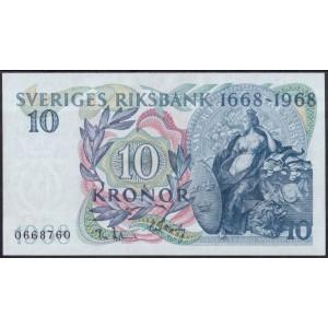 Швеция 10 крон 1968 - UNC