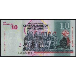 Свазиленд 10 эмалангени 2015 - UNC