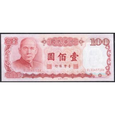 Тайвань 100 юаней 1987 - UNC
