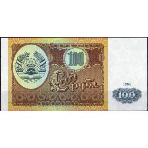 Таджикистан 100 рублей 1994 - UNC