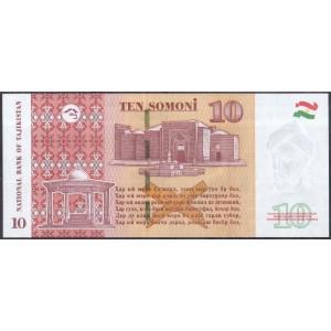 Таджикистан 10 сомони 2018 - UNC