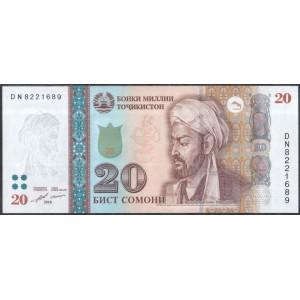 Таджикистан 20 сомони 2018 - UNC