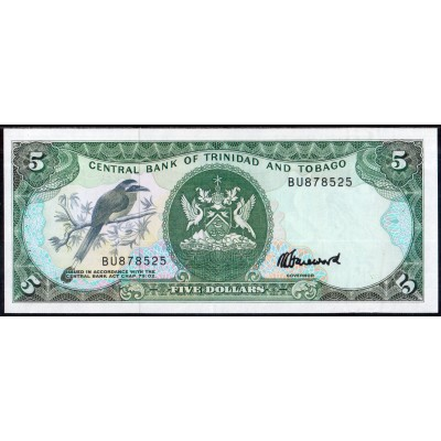 Тринидад и Тобаго 5 долларов 1985 - UNC