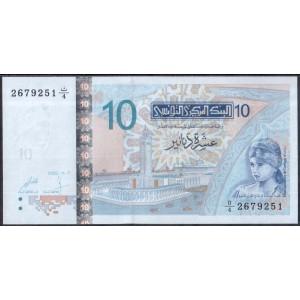 Тунис 10 динаров 2005 - UNC