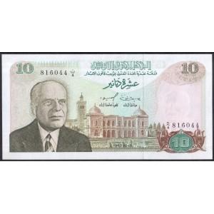 Тунис 10 динаров 1980 - UNC
