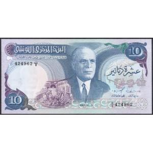 Тунис 10 динаров 1983 - UNC