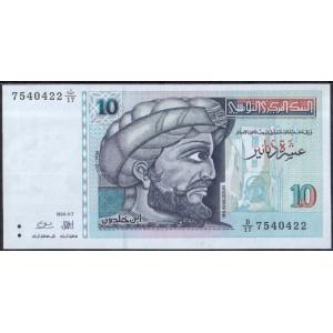Тунис 10 динаров 1994 - UNC