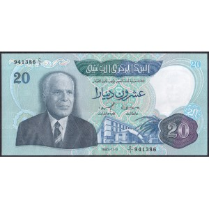 Тунис 20 динаров 1983 - UNC