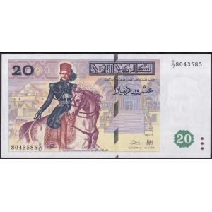 Тунис 20 динаров 1992 - UNC