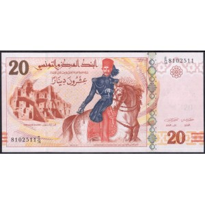Тунис 20 динаров 2011 - UNC
