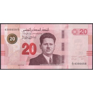 Тунис 20 динаров 2017 - UNC