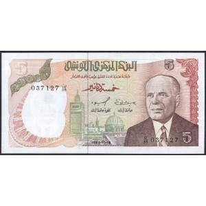 Тунис 5 динаров 1980 - UNC