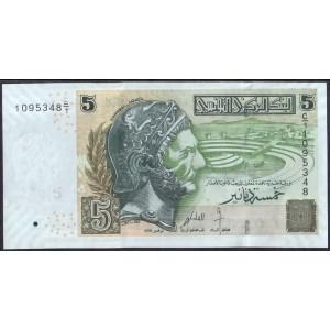 Тунис 5 динаров 2008 - UNC