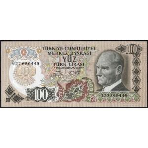 Турция 100 лир 1970 - UNC