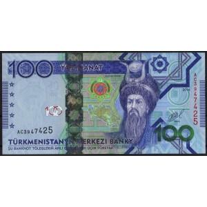 Туркмения 100 манатов 2014 - UNC