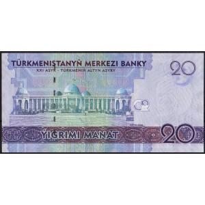 Туркмения 20 манатов 2012 - UNC