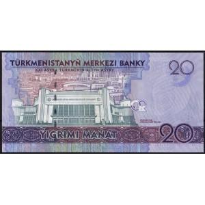 Туркмения 20 манатов 2017 - UNC