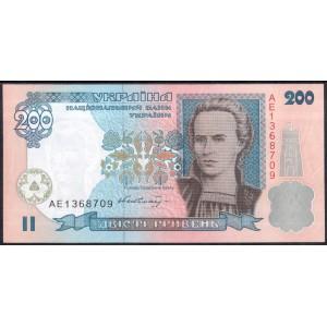 Украина 200 гривен 2001 - UNC
