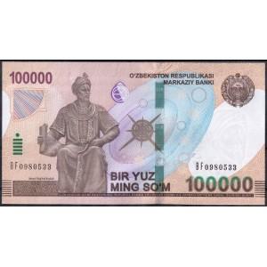 Узбекистан 100000 сумов 2019 - UNC