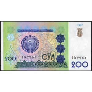 Узбекистан 200 сумов 1997 - UNC