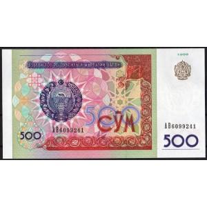 Узбекистан 500 сумов 1999 - UNC
