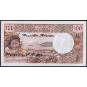 Новые Гебриды 100 франков 1970 - UNC