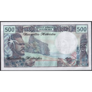 Новые Гебриды 500 франков 1970 - UNC
